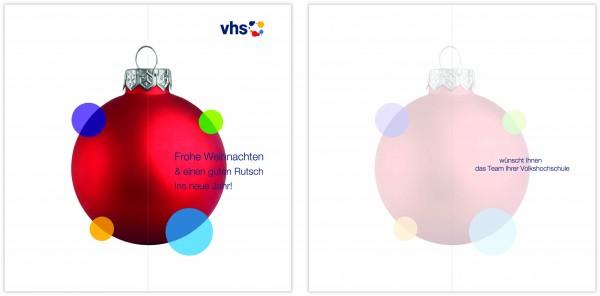 vhs-Weihnachtskarte White Christmas_individuell Bedruckt