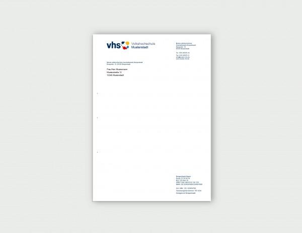 Briefbogen DIN A 4