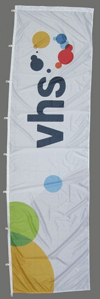 Fahne im Hochformat vhs Standard